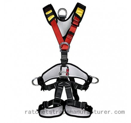 Fall protection harness with 4 D rings 5 ponits adjustable