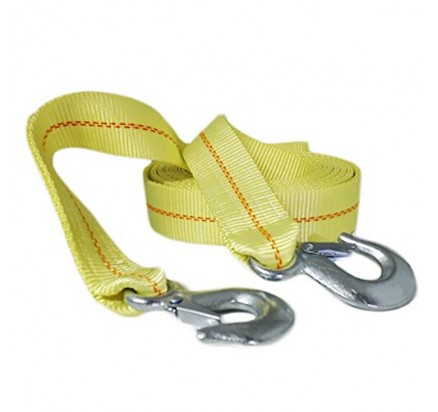 2inch Recovery tow strap 4.5ton B.S. with metal S hooks