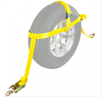2inch Wheel tie down straps for Car Hauler Trailer