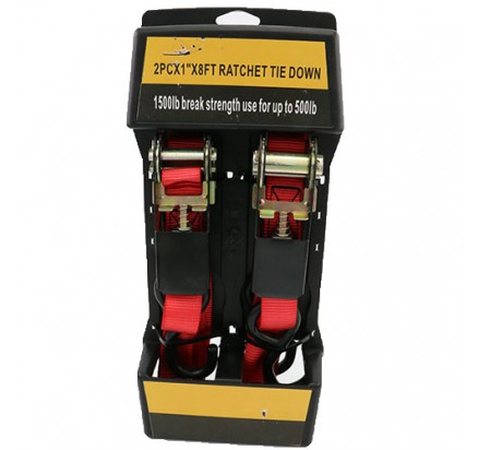 2PC×1INCH×8FT Ratchet tie down