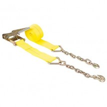 4inch 15000lbs Heavy duty ratchet straps with Chain hooks