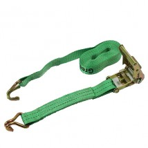 50mm width 3T Ratchet belt with green webbing sling