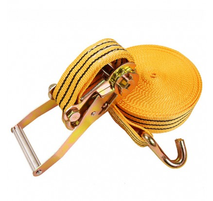 50 mm Cargo lashing belt with double J hooks