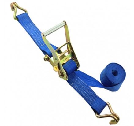 Cargo Strap 50mm 3Ton B.S. Blue with Double J hooks