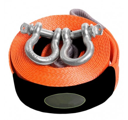 Heavy duty nylon tow strap with hook
