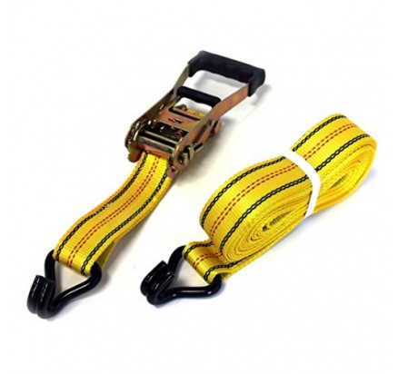 Heavy Duty Tie Down Straps With Double J Hooks And Rubber