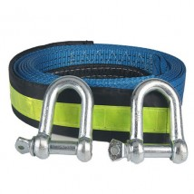 Heavy duty tow straps 4inch wide with Screw Schackles