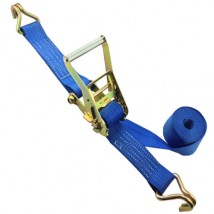 Ratchet belts 2inch 3Ton B.S. Blue with Double J hooks