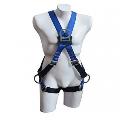 roofer safety harness & full body protection with 4 D-rings
