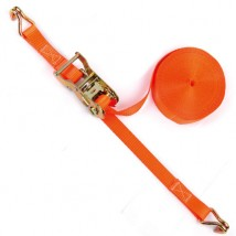 1-1/16inch 3300lbs red Ratchet Tie down with Double J hooks