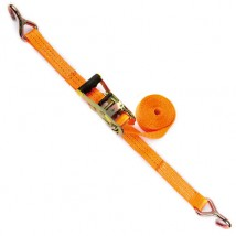 1.5inch polyester Ratchet Tie down with J hooks and rubber handle