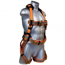 Full body safety harness with 1 D rings 6 ponits adjustable
