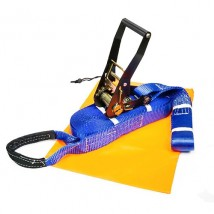 Black E-coat ratchet slacklining kit