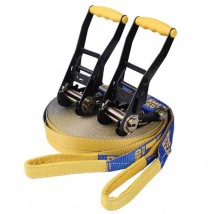 Slackers Slackline with double ratchet slackline buckle