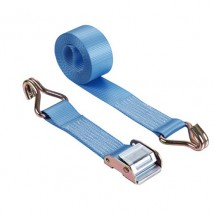 WDCB020201 50mm cam buckle straps blue 10m with double J hooks