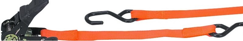 Heavy duty ratchet straps provide extra security and strength