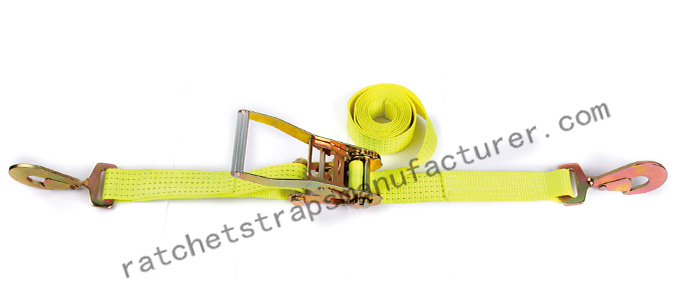 WDCS020502b Ratchet tie down with snap hook