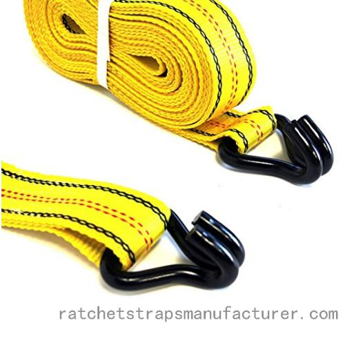 Cargo straps with double J hooks and rubber handle 50mm×8m