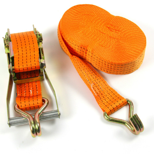 50mm heavy duty ratchet straps with double J hooks